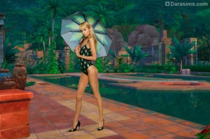 купальник из совместной коллекции The Sims 4 и Moschino