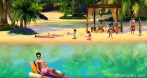 пляжный отдых в «Симс 4 Жизнь на острове»