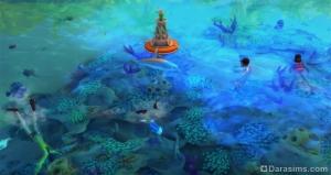 купание в море в «Симс 4 Жизнь на острове»