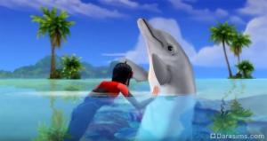 общение с дельфином в «Симс 4 Жизнь на острове»