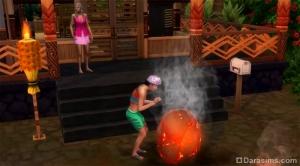 вулканический дождь в «Симс 4 Жизнь на острове»