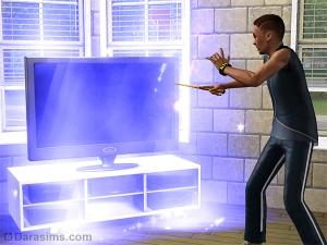 Колдун улучшает телевизор с помощью магии