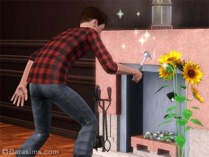 Персонаж улучшает огнестойкость камина
