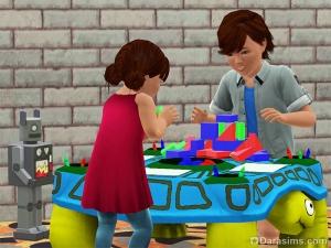 Дети и малыши повышают механику игрой в кубики