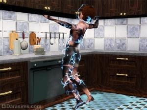 Сломанная посудомойка бьет сима током