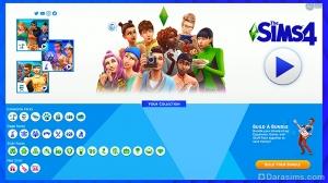 обновленное главное меню в The Sims 4