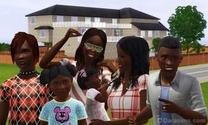 Семья Аннан из Симс 3 Барнакл Бэй