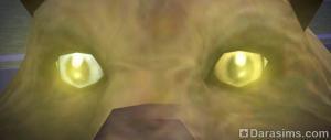 Разноцветные глаза вожака волчьей стаи