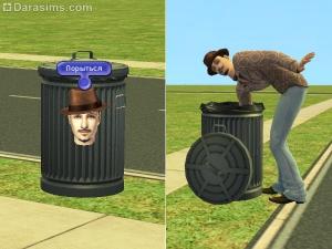 Грязнуля роется в мусорном баке