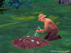 раскопки в Симс 4 приключения в джунглях