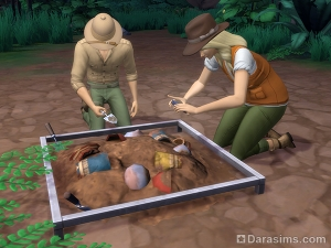 место раскопок в Симс 4 приключения в джунглях