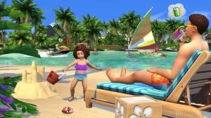 Пляжный отдых в The Sims 4 жизнь на острове