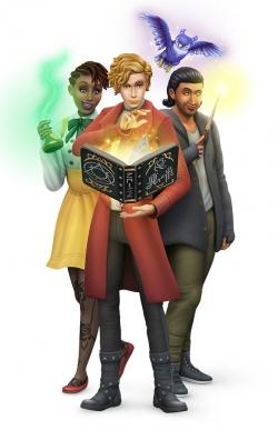 Рендер с обложки игрового набора Симс 4 Мир магии