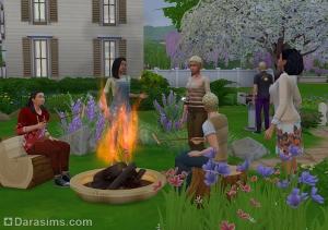 Пикник с жареными сосисками  Симс 4 В поход