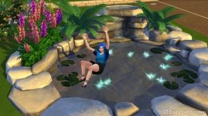 Смерть от утопления в садовом пруду в Симс 4