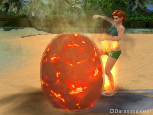 вулканический камень  в Симс 4 Жизнь на острове