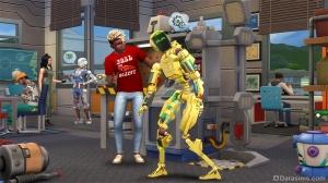 Робот в дополнении «The Sims 4 В университете»