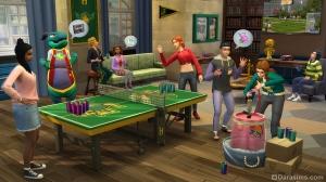 Пинг-понг с соком в дополнении «The Sims 4 В университете»