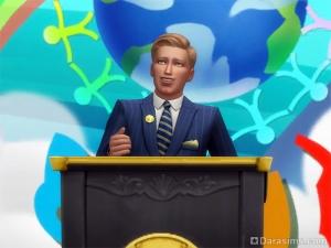 Политик за трибуной в Симс 4
