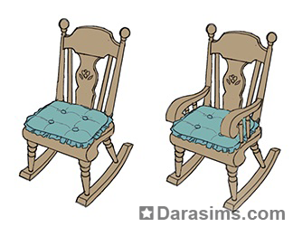 эскиз кресла-качалки для каталога Симс 4 Нарядные нитки