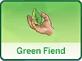 черта характера Зеленый
