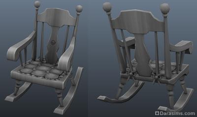 модель кресла-качалки для каталога Симс 4 Нарядные нитки