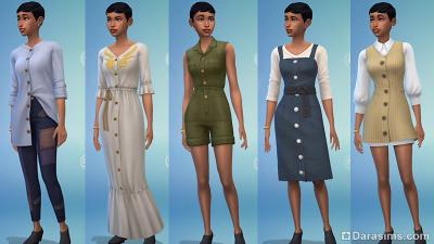 Новинки женского гардероба в Симс 4 Экологичная жизнь