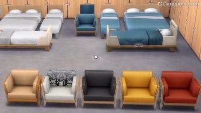 варианты окраски мебели в Симс 4 Экологичная  жизнь