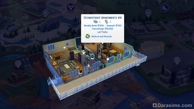 апартаменты в Симс 4 Экологичная жизнь