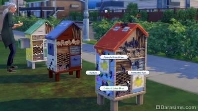 Ферма насекомых в Симс 4 Экологичная жизнь
