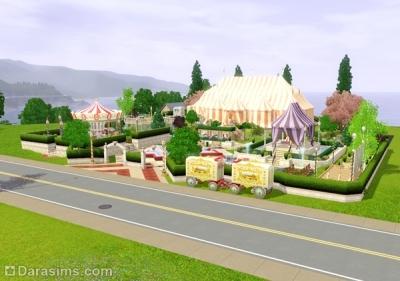Общественный парк с каруселью