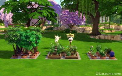 пользовательская комната с садовыми растениями в симс 4
