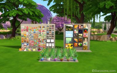подборка элементов декора как пользовательская комната в симс 4