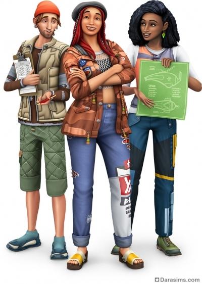Рендер с обложки «The Sims 4 Экологичная Жизнь»