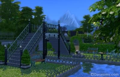 высокий мост в симс 4