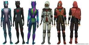 Постапокалиптические костюмы в Симс 4 Путь к славе