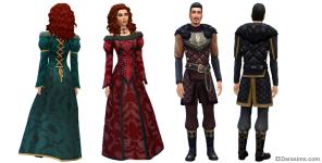 Средневековые костюмы в Симс 4 Путь к славе