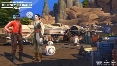 Лагерь Сопротивления в Симс 4 Star Wars Путешествие на Батуу