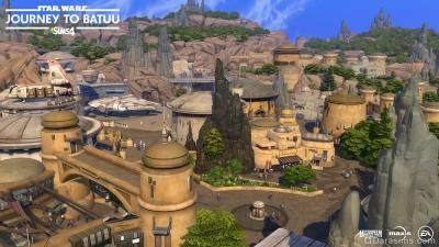 Аванпост Черный шпиль в THe Sims 4 Star Wars: Путешествие на Батуу