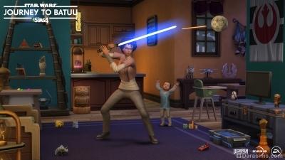 Жизнь в стиле Звездных войн в Симс 4 Star Wars Путешествие на Батуу