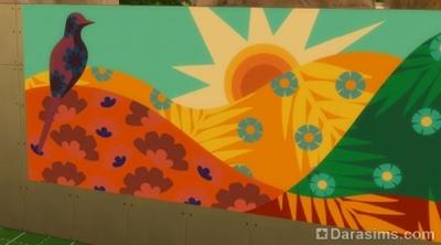Фреска из латиноамериканского патча Симс 4