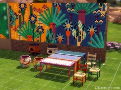 Новая мебель из латиноамериканского патча Симс 4