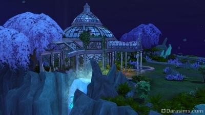 Остров сад в Волшебном мире Симс 4