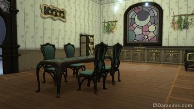 Кухня в штабе чародеев в Симс 4 Мир магии