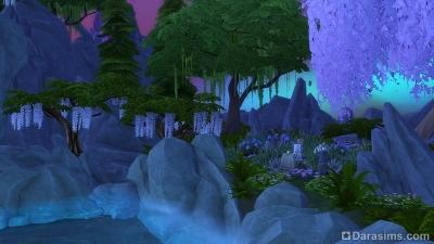 Центральный остров в Волшебном мире Симс 4