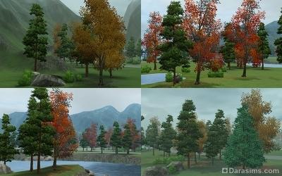 Природа Мунлайт Фолс осенью
