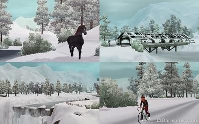 Природа Мунлайт Фолс зимой