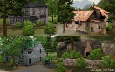 Заброшенные дома в Мунлайт Фолс в The Sims 3 Supernatural