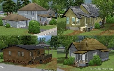 Дома попроще в Мунлайт Фолс в The Sims 3 Сверхъестественное