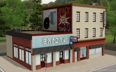 Торговый дом и кафе Ван Голда в симс 3 Сверхъестественное